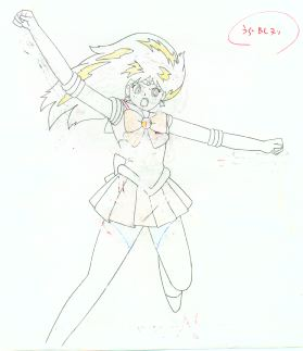 An animation sketch of Sailor Mars.