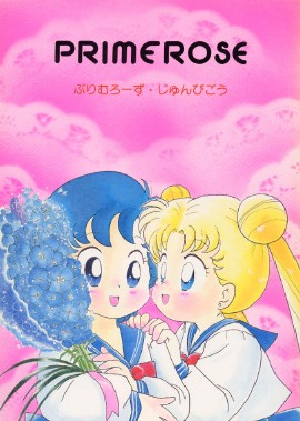 Doujinshi of Ami holding flowers and Usagi hovering close by