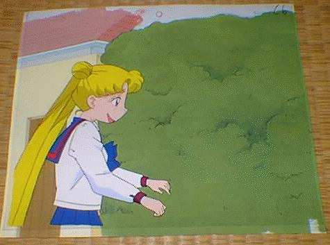 Usagi with a real goofy looking smile on her face