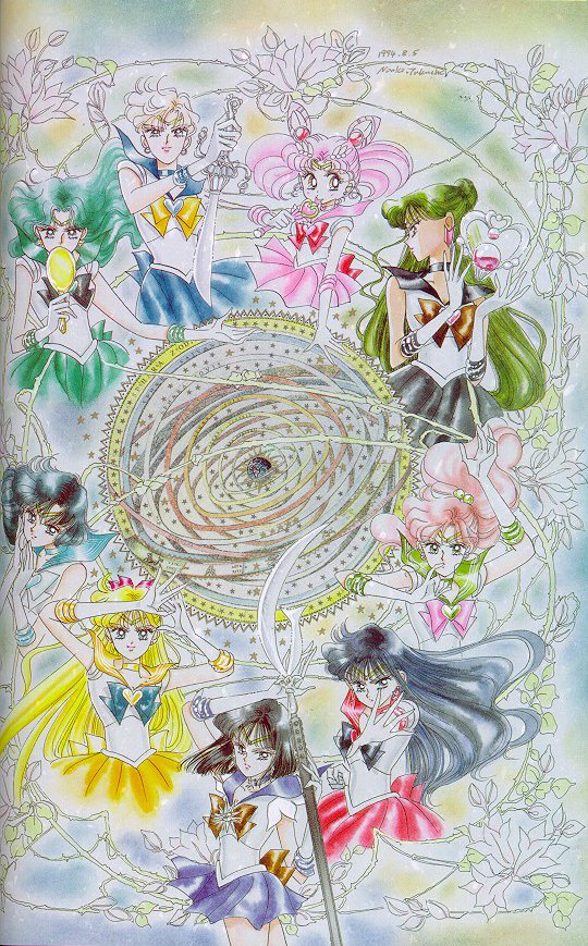 pretty artbook scan of all the senshi