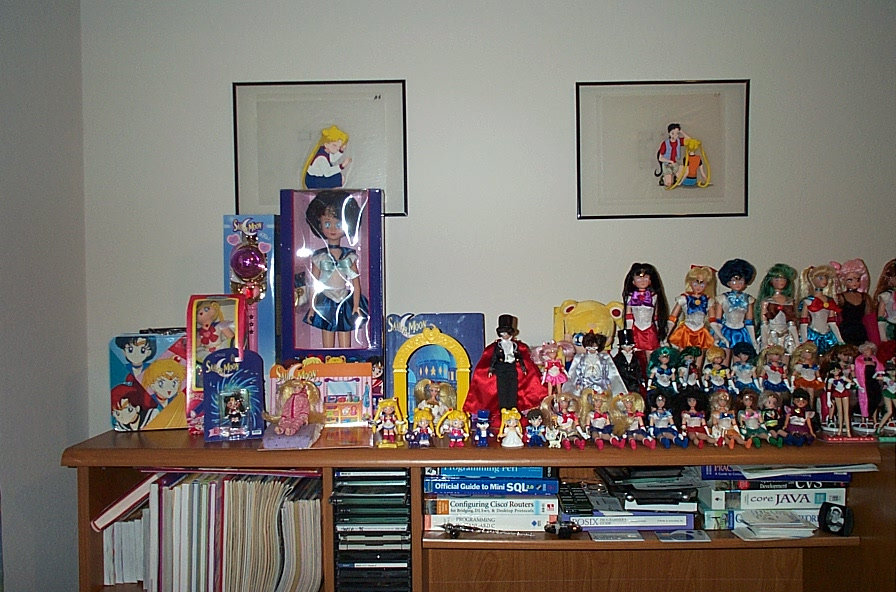 A photo of a Bontrager room full of Sailormoon merchandise