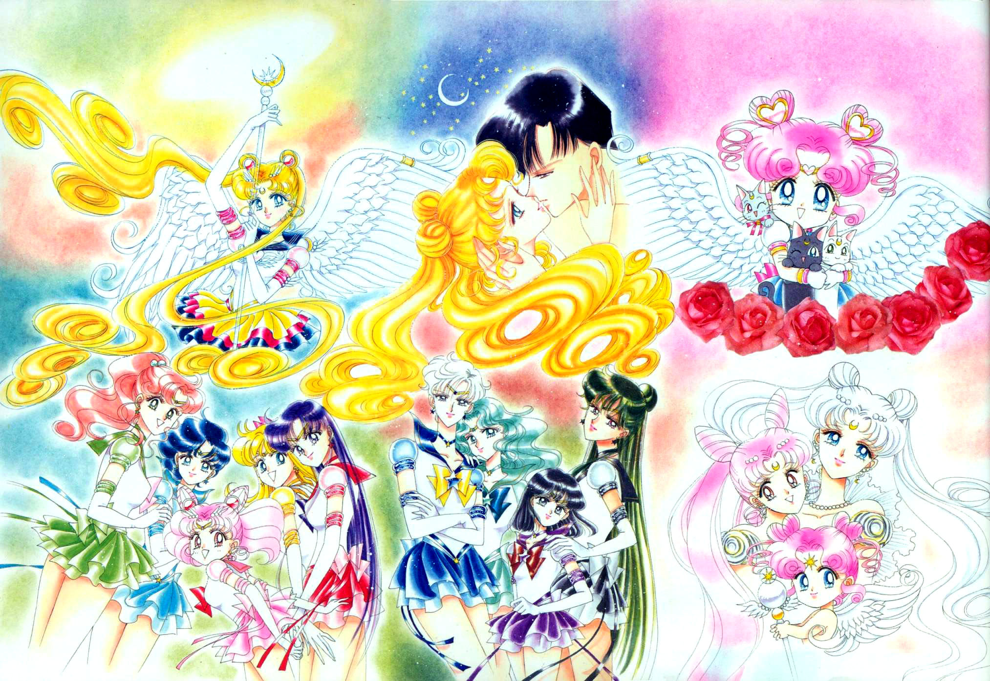 Most of the main characters of Sailorstars manga