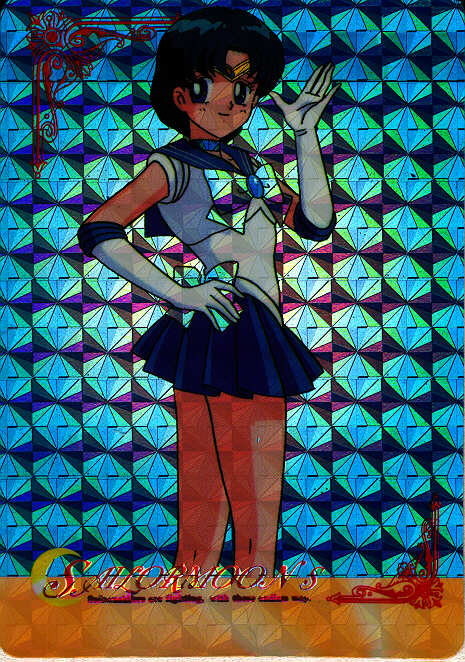 A prismatic trading card from S of Sailormercury waving