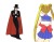 A cel of Tuxedo Kamen and Sailormoon looking at each other